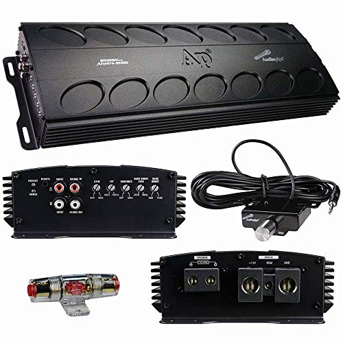 Audiopipe APMN-2000 RMS Class D Monoblock Subwoofer Amplifier, 2000W Mono Sub Amp