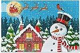 Rompecabezas para adultos 500 piezas Navidad muñeco de nieve árbol casa rompecabezas divertidos para niños rompecabezas imposible juegos de casa 15 x 20 pulgadas
