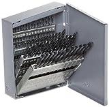 Chicago Latrobe 69885 159 Series High-Speed Steel Short Length Drill Bit Set In Metal Case, Black Oxide Finish, 135 Degree Split Point, Wire Size, 60-piece, #60 - #1