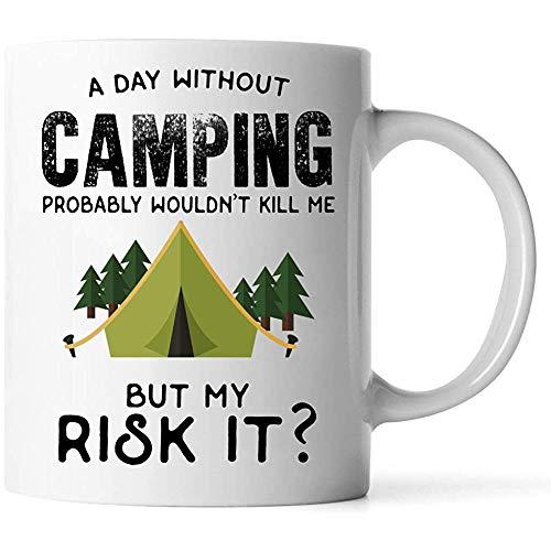 Tazas Divertida Camping Gif Taza de café 11 oz blanco Camping
