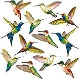 Blulu Adesivi per Finestra Colibrì Adesivi Anticollisione Decalcomanie per Prevenire l'Uccello Scioperi sul Vetro della Finestra Adesivi per Colibrì Non Adesivi in Vinile (18 Pezzi)