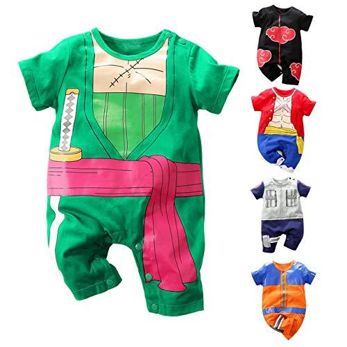 LIIREN Luffy Short-Sleeve Jersey Bodysuit for Infant Black