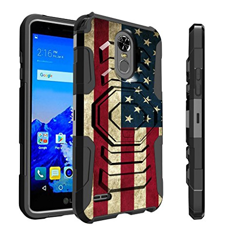 Untouchble Case for LG Stylo 3  Stylo 3 Plus Case   Stylo 3 Cover [Max Alpha Holster]- [Swivel Holster] Dual Layer Phone Protection and Built in [Kickstand] - Vintage America Flag