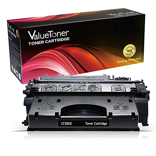 ValueToner Compatible Toner Cartridge Replacement for Hewlett Packard, CF280X Compatible with Laserjet Pro 400 M401dn M401dne M401dw M401n M425dn M425dw Printer, Black