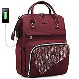 zaino da donna per laptop da 15,6 pollici con scomparto per laptop, grande borsa impermeabile per insegnanti e insegnanti, con porta di ricarica usb, per viaggi, lavoro, università, studenti