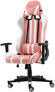 Chair 椅子 Chairs Gaming Racing Office High Back PC Computer, Ergonomic Design Adjustable Height, Lumbar Support (color : Pi...