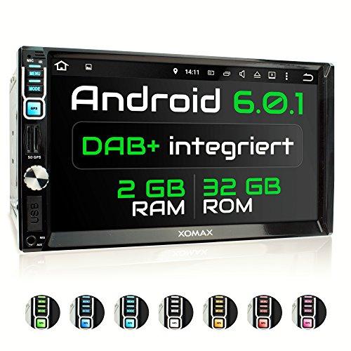 XM-2VDA715 DAB+ Autoradio mit integriertem DAB Tuner, Android 6.0.1