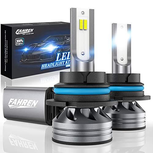 Fahren 9004/HB1 LED Headlight Bulb, 60W 12000 Lumens Super Bright LED Headlights Conversion Kit 6500K Cool White IP68 Waterproof, Pack of 2
