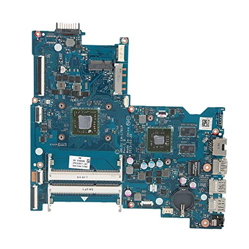 Laptop Motherboard for HP 15-AF, Professional Replacement Main Board for AMD LA-C781P CPU Laptop Notebook, ABS+Chip, CR2032 Battery (not Included)