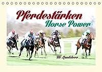 Pferdestaerken Horse Power (Tischkalender 2022 DIN A5 quer): Galopp Rennbahn (Monatskalender, 14 Seiten )