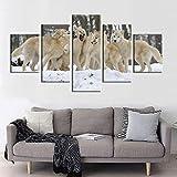 5 teilig bilder dekoration leinwand poster Schneewittchen