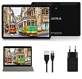 Tablet 10.1 Pulgadas Android 10.0 Tableta Ultra-Portátiles - RAM 4GB   64GB Expandible (Certificación Google GMS) -JUSYEA - Batería de 8000mAh- WiFi - Cubierta - Negro