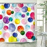 RosieLily Watercolor Polka Dot Circles Shower...