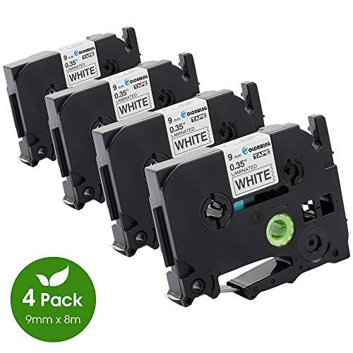 5x Premium kompatible Schriftbänder für Brother TZE621 Schwarz auf Gelb Easy Pri