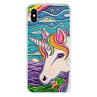 2021 Silicone Soft case for iphone 12pro max 11 Pro X XR XS Max 7 8 6 6s Plus SE 2020 12 Mini print Unicorn Rainbow Phone Cover