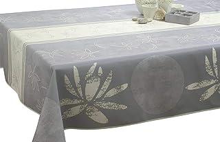 Le linge de Jules Nappe anti-taches Lotus blanc - taille : Rectangle 150x240 cm