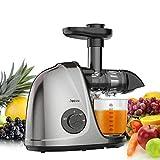 Jocuu Extracteur de Jus de Fruits et Légumes Slow Juicer Sans BPA avec Fonction Reverse et Double Vitesse de Rotation,...