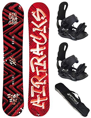 Airtracks Snowboard Set TAVOLA Dirty Brush Wide Uomo 150 - ATTCCHI Star L - SB Sacca