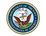 Navy Seal USN Logo 5' Round Vinyl Decal Sticker for Cars Trucks Laptops etc... (Red White & Blue) (Full Color)