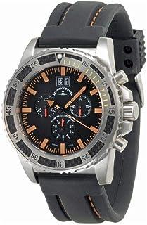Zeno Watch Basel - Reloj para Hombre Analógico Cuarzo con Brazalete de Silicona 6478-5040Q-a15-9