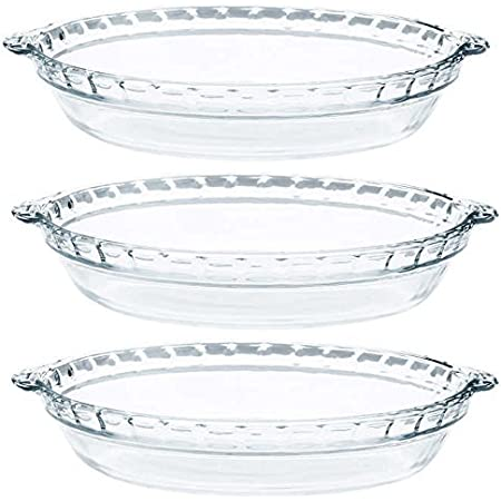 Set of 3 Anchor Hocking Oven Basics 9.5-Inch Deep Pie Plate