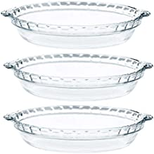 Pyrex - Glass Pie Plates - 3 Pack ( 9.5 inchex x 1.5 inches)