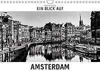 Ein Blick auf Amsterdam (Wandkalender 2022 DIN A4 quer): Ein ungewohnter Blick in harten Schwarz-Weiss-Bildern auf Amsterdam (Monatskalender, 14 Seiten )