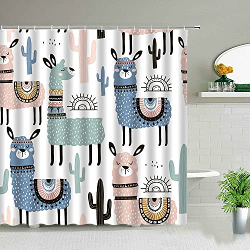 Cortinas de Ducha de Color Agua Animal Perro Bulldog Impreso Pantalla de baño Tela Impermeable Cortina de baño Regalos para niños S.8 150x180cm