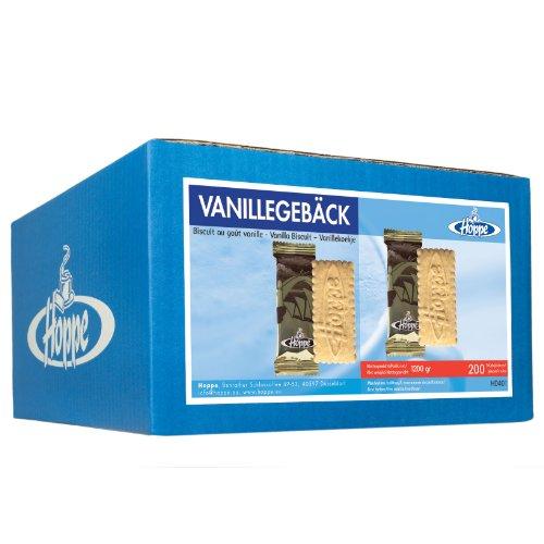 Hoppe Vanillegebäck Mono, Kekse, Plätzchen, einzeln verpackt, 200 Stück, 1200g