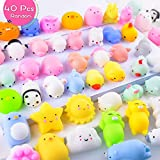 LUDILO 40Pcs Mochi Squishy Toys Mini Squishies Kawaii Animal Squishys Party Favors for Kids Unicorn Cat Panda Miniature Novelty Toys Class Prizes Birthday Gifts Stress Relief Toy for Adults, Random