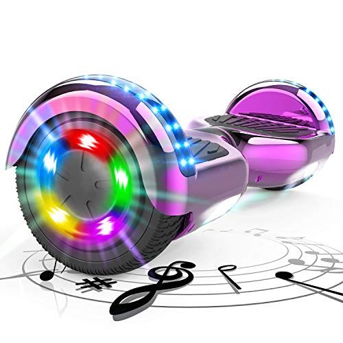 """MARKBOARD 6,5"""" Patinete Eélctrico Hover Scooter Board Portátil Scooter Electrico con Luces de Ruedas, Altavoz Bluetooth Hoverboard"""