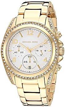Michael Kors Women s Blair Quartz Watch with Stainless Steel Strap Gold 20  Model  MK6762