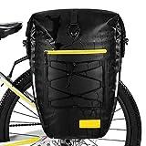 Gonex Alforjas de bicicleta impermeables para bicicleta, 27 l, color negro