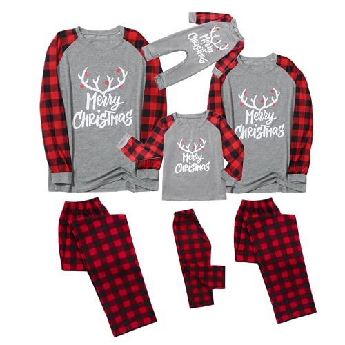 Christmas Matching Family Pyjamas Deer Santa Claus...