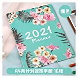 2021 Calendarios de Escritorio Calendarios d Agenda 2020 2021 Planner Organizador A4 Notebook y Revistas DIY 365 Días Plan de cuaderno de Kawaii Horario Mensual Oficina Hand Book Calendario Calendario