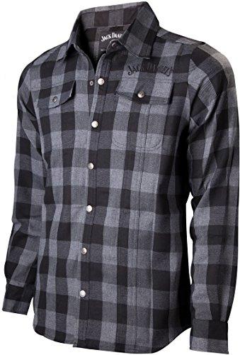 JACK DANIELS Karohemd Hemd checker kariert Holzfällerhemd mit Logo Gr.S