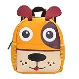Kinderrucksack Bunter Leichter und Moderner Babyrucksack Süßer Cartoon Tier Design auf der Schultasche für Kinder 2-5 Jahre Alt für Junge und Mädchen (Hund)