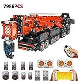 PEXL Technic Grúa Móvil Liebherr LTM11200 V2 Set de Construcción, 1:20 2.4G/App RC Maqueta Camión Grúa Todoterreno para Construir, 7986 Bloques y 8 Motor