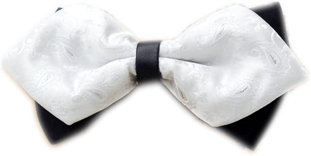 Secdtie Men's Pre-tie Double Layers New arrival Bow Tuxedo f Neck Trust Bowtie Tie