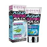 Biovène Aqua Schlafmaske – Neunstündige Nachtmaske für entspannte und hydrierte Haut – Revitalisieren Sie Ihre Haut im Schlaf – Entspannt und reinigt gestresste Haut (125ml)