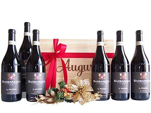Cassetta Regalo Auguri Barbaresco Vino Rosso del Piemonte - Novità Esclusivo Regalo Cassette Vino per Intenditori - cod 102