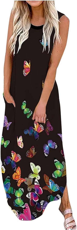 Women's Mini Dress Women Summer specialty shop Pocket Maxi Sleeveless Boho Lon Dedication