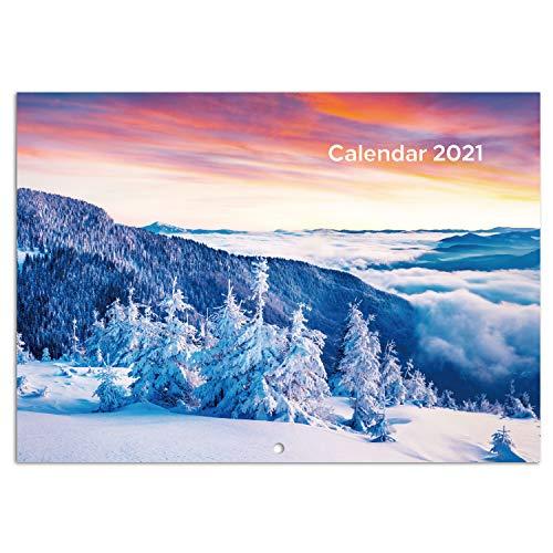 Eono by Amazon - Calendario 2021 Pared, Calendario 2021 Sobremesa, Calendario de Enero de 2021 a...