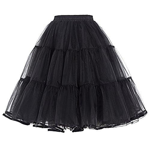 Belle Poque Petticoat Damen Vintage 50er Jahre Unterrock Kurz Tüll Reifrock für brautkleid Rockabilly Kleid Größe XL BP177-1