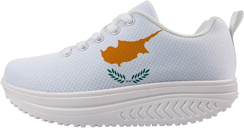 Owaheson Swing Platform Toning Fitness Casual Walking shoes Wedge Sneaker Women Cyprus Flag