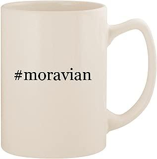 #moravian - White Hashtag 14oz Ceramic Statesman Coffee Mug Cup