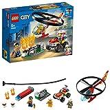 LEGO City Fire - Intervención del Helicóptero de Bomberos, Juguete de Construcción con Helicóptero, Incluye un Quad de Bomberos y 3 Minifiguras (60248)