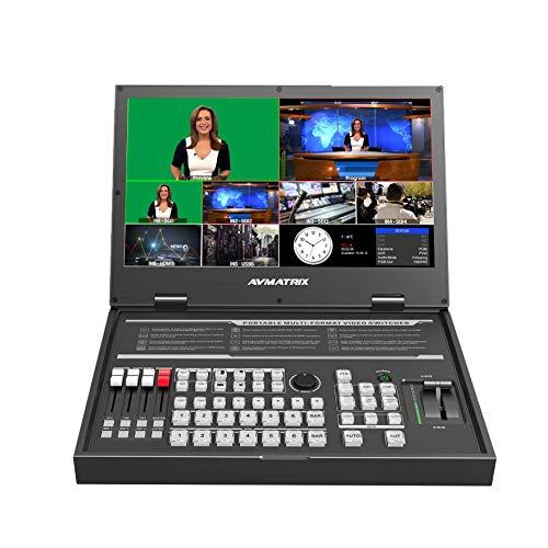 "AVMATRIX PVS0615U 15.6"" Portable 6-Channel SDI/HDMI Multi-Format Streaming Switcher"