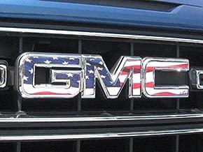 EmblemsPlus American Flag GMC Sierra 1500 Grille GMC Emblem Decal Overlay Vinyl Sheet CUT-YOUR-OWN Easy To Install DIY Fits 2014 Thru 2018.