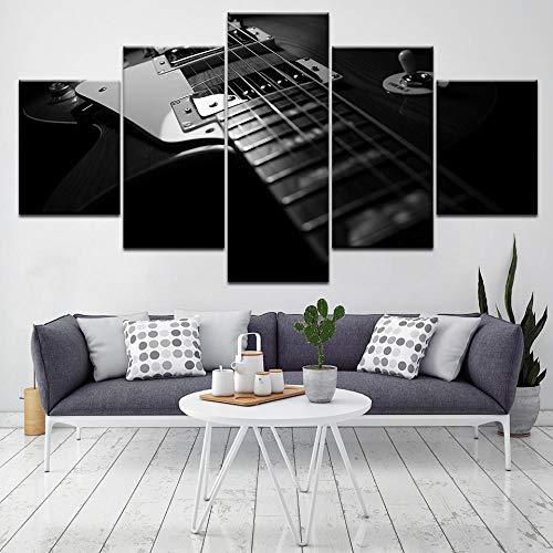 Cuadro Moderno Lienzo Decoración Guitarra electrica Impresión artística Decoracion de Pared Moderno Impresión de Imagen...
